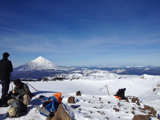 Subindo o vulcão Quetrupillán em Pucón
