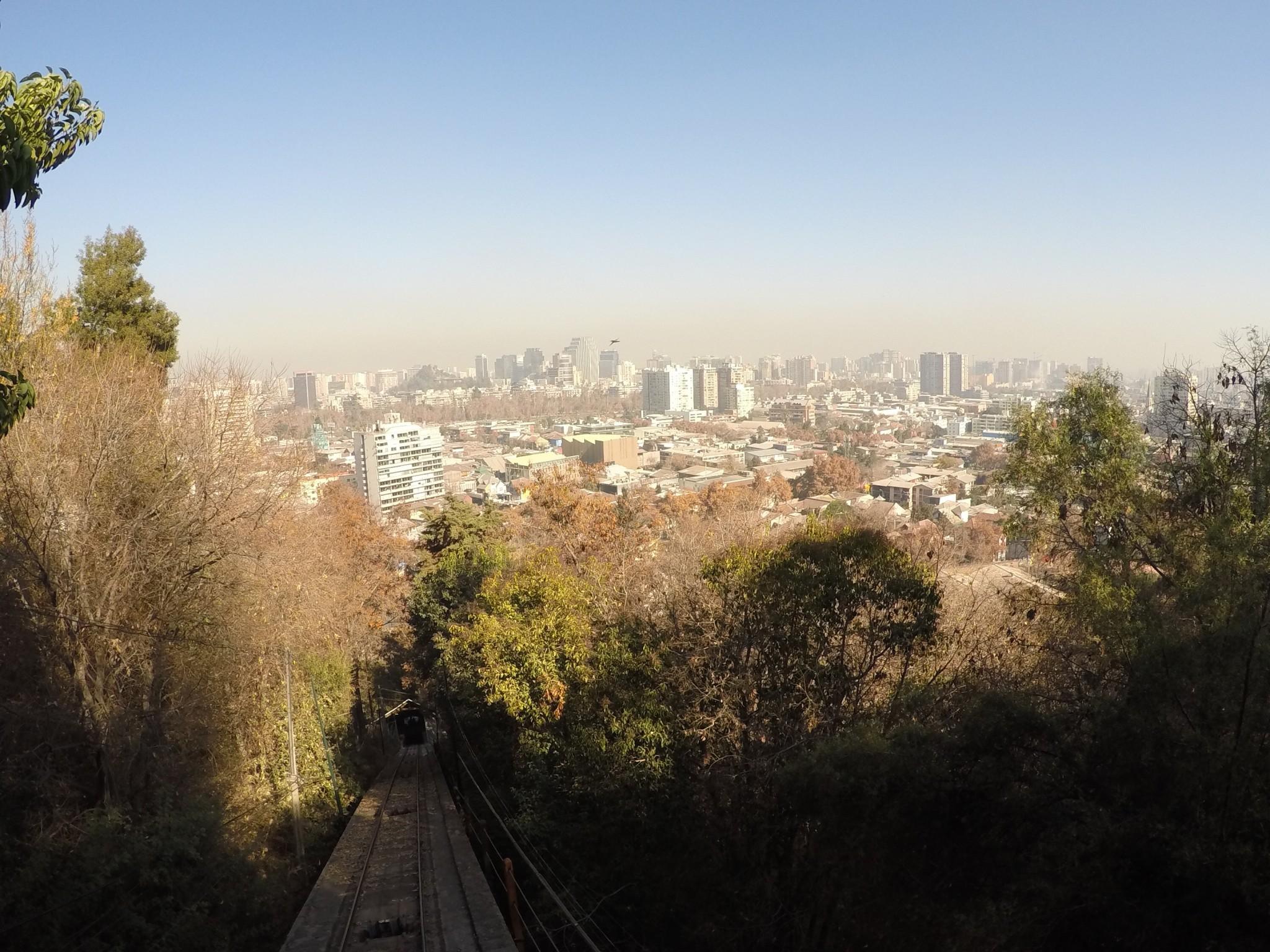 Santiago e a poluição do inverno