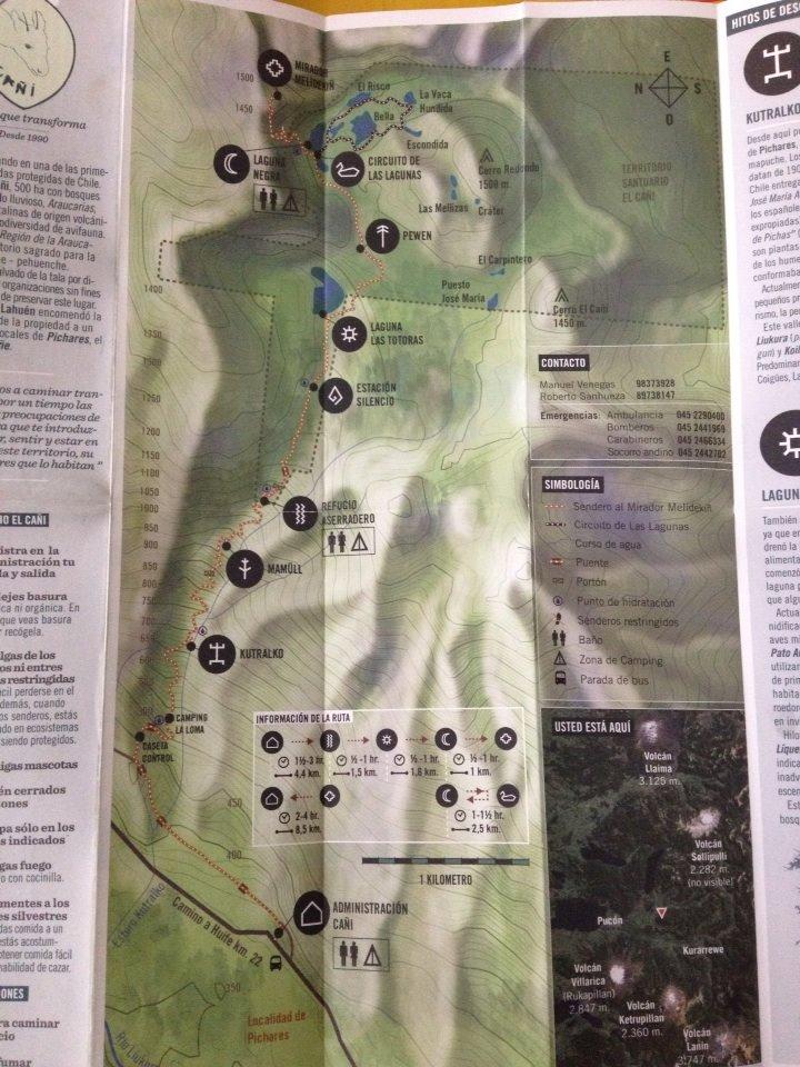 Mapa El Cañi