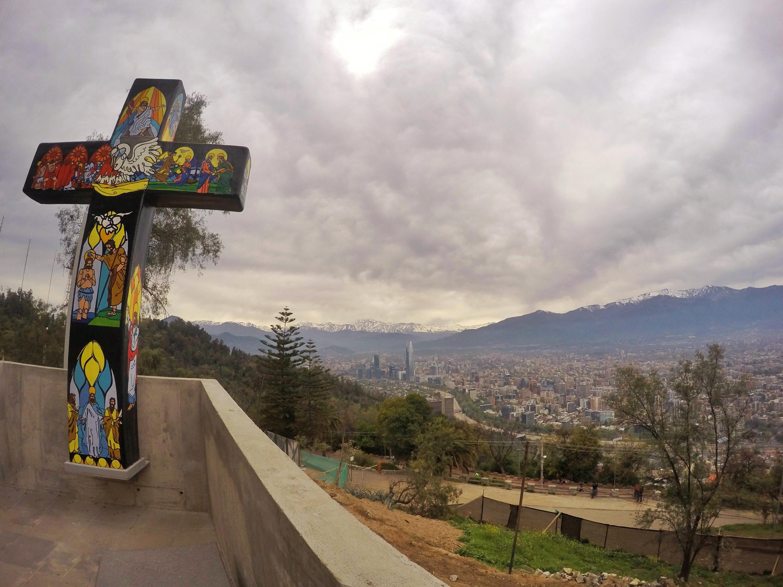 Santiago vista de cima do Cerro San Cristóbal