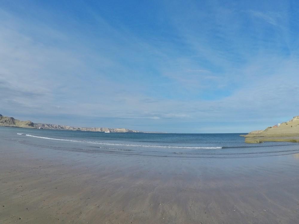 A praia onde é feita a navegação