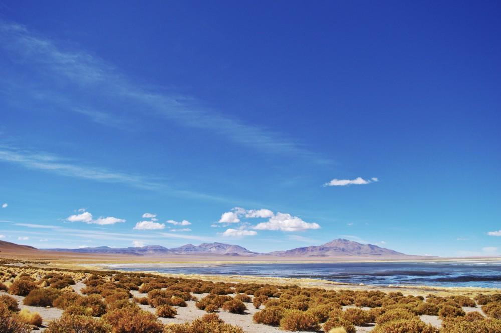 O almoço no Salar de Tara com vista exclusiva - e areia e vento -