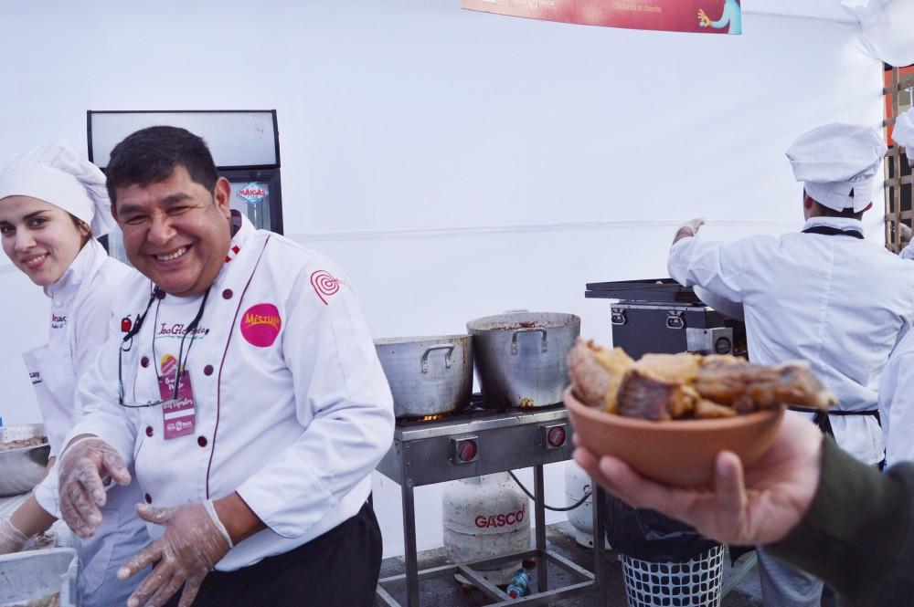 O chef peruano e o prato que valeu a fila :)