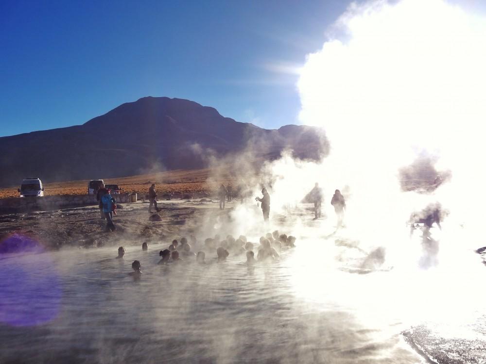 Os Gêiseres del Tatio e as suas piscinas termais