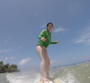 Surf em Barbados: até quem não nada consegue!