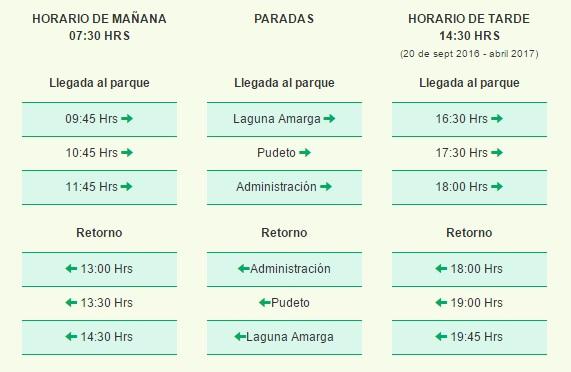 Informação da Cia Buses Maria José