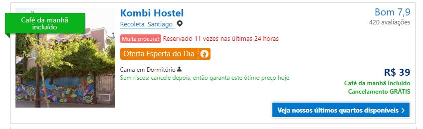 Hostel em Santiago
